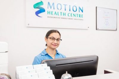 receptionist at Motion health centre
